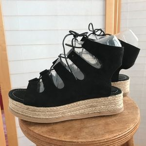 86c5eed3208 Jeffrey Campbell · Sz8 Jeffrey Campbell lace up gladiator black Suede